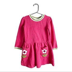 Mini Boden Flower Dress Pink Size 4-5 Years